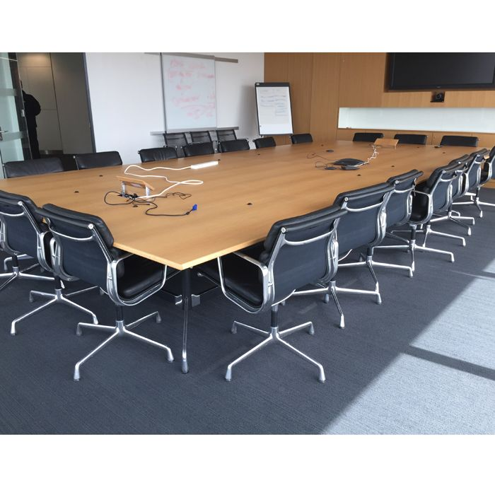 used conference table chairs doll high wooden original vitra eames boardroom 5.6l x 2.7d | large for ...